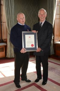 clive with president skill gallantry awards 2014