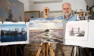 Geoff Hunt, judge of Shipwrecked Mariners'Society art competion