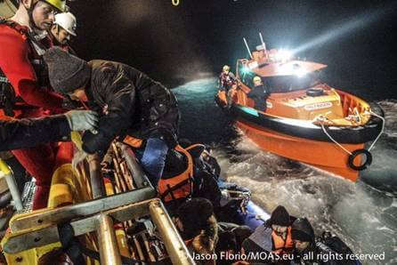 Over the duration of the tour, John was directly involved in the rescue of 142 refugees